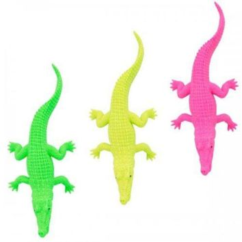 ONETOW Neon Crocodile Toy Party Favor