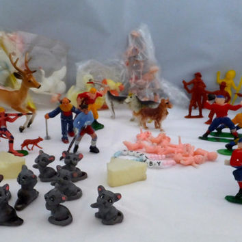 Vintage Cake Toppers- birthday cake ballerinas, dogs, deer hunters, carousel horses, stork, football players, babies