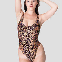 Cheetah Print High Cut One-Piece