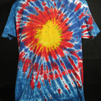 Hand Dyed Sun Burst Tie Dye Shirt | Hanes Beefy-T 6.1oz Shirt Youth / Adult (SHORT or LONG SLEEVE)