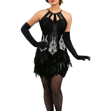 Women's Feathered Showgirl Costume - Performance & Stage Wear - Free Shipping