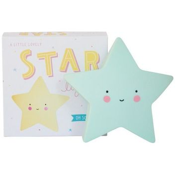 A Little Lovely Company Mini Mint Star Light