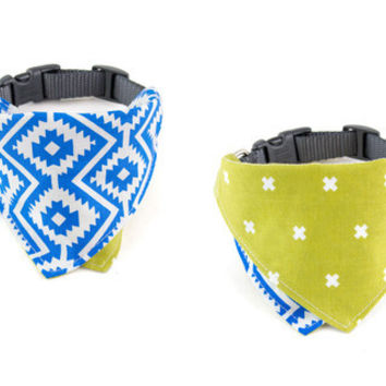 Calidreamin / Malibu Blue Dog Bandana Collar