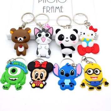 1 pc  Gold Tone 3D Cartoon Animal Keychain 17 Designs