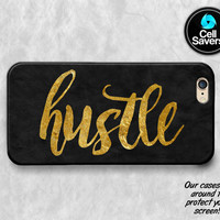 Hustle Quote iPhone 6s Case iPhone 7 Plus iPhone 6 Plus iPhone 6s Plus iPhone 5c iPhone 5 iPhone SE Case Quote Gold Black Tumblr Hustle Cute