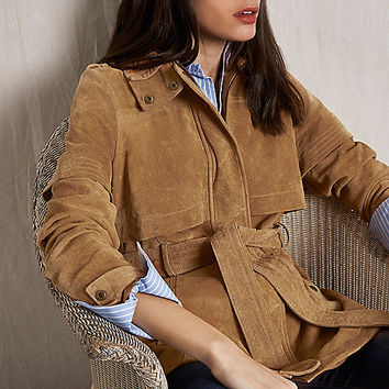 RI Studio tan suede belted jacket - jackets - coats / jackets - women