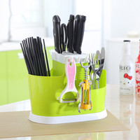 The Large Capacity Kitchen Draining Tray Dish Drainer Drying Rack Colanders Basket Chopsticks Knife Sponge Fork Holder Dish Rack