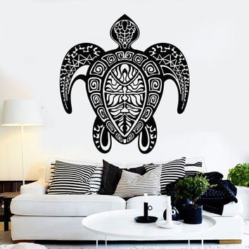 Vinyl Wall Decal Turtle Marine Style Room Bathroom Animal Stickers Unique Gift (ig4432)