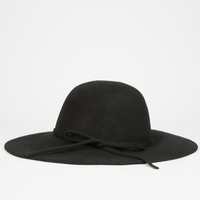 Bow Felt Womens Floppy Hat Black One Size For Women 26226210001