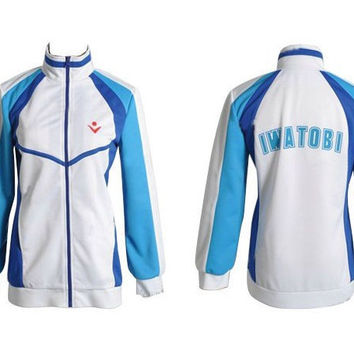 Anime Free Iwatobi Swim Club Haruka Nanase Cosplay Costume Jacket Unisex Hoodie High School Sport Wear For Men and Women