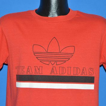 80s Team Adidas Trefoil Striped t-shirt Small