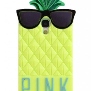 Yellow 3D lovely Fruit Ananas Style Soft Case Protective Cover For Samsung Galaxy S4 I9500