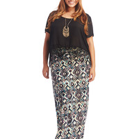 Super Soft Ikat Print Maxi Skirt | Wet Seal