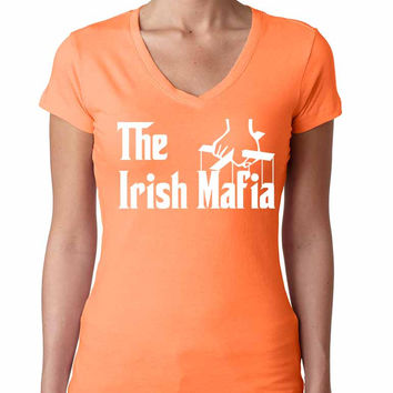 The Irish mafia Women sporty V Shirt saint patricks day