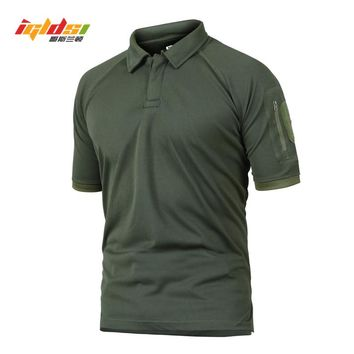 IGLDSI Men's Military Camouflage Tactical Polo Shirt New 2018 Summer Camo Army Polo Man Brand Breathable Quick Dry Polo Shirts