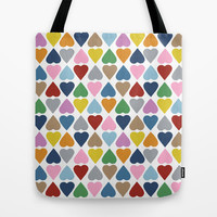 Diamond Hearts Repeat Tote Bag by Project M