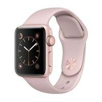 DCCKX8J Apple Watch Band Series 2 (38mm Rose Gold Tone Aluminum with Pink Sand Sport Watch Band