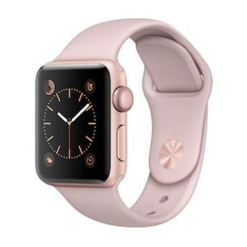 LMFPL3 Apple Watch Series 2 (38mm Rose Gold Tone Aluminum with Pink Sand Sport Band) | null