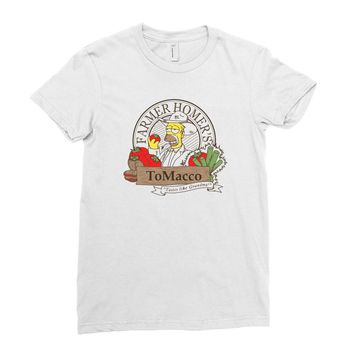 farmer homer's tomacco Ladies Fitted T-Shirt