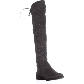 Circus by Sam Edelman Princeton Over The Knee Boots, Gray, 6 US / 36 EU