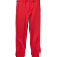 Gucci - Slim-Fit Cropped Embroidered Grosgrain-Trimmed Twill Trousers
