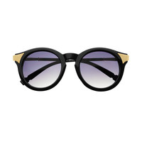Cute Tips Retro Designer Style Keyhole Round Sunglasses R1250