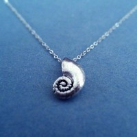 The Little Mermaid, Ariel's Voice Shell, Sterling Silver, necklace