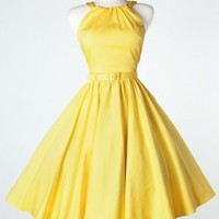 Harley Dress in Pastel Yellow
