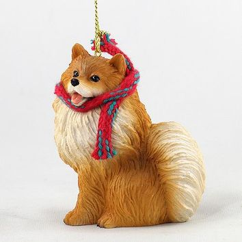 POMERANIAN RED ORIGINAL ORNAMENT, LARGE