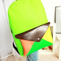 Color Envelope Canvas Backpack