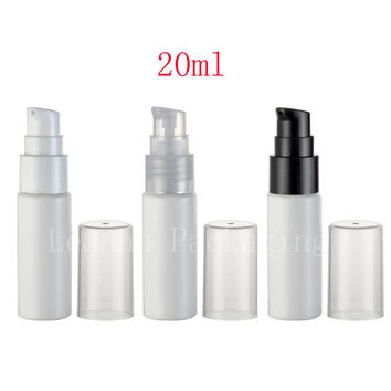 20ml white empty cosmetic container with cream pump , 20g skin care cream treatment  bottles travel size makeup setting spray
