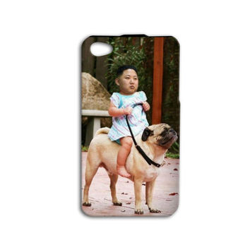 Kim Jong ILL Funny Phone Case Cute iPod Case Pug Phone Case Puppy iPhone Cover iPhone 4 iPhone 5 iPhone 4s iPhone 5s iPod 4 Case iPod 5 Case