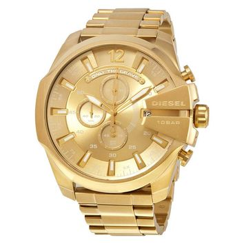 Diesel Mega Chief Champange Gold-tone Mens Chronograph Watch DZ4360