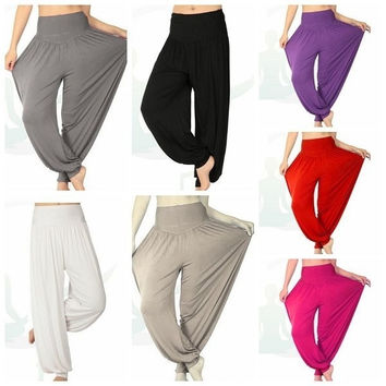 Women Comfy Harem Loose Long Pants Belly Dance Casual Boho Wide Trousers(more beautiful color are available now) = 1651171204