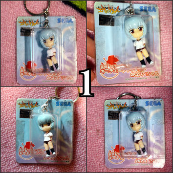 GAINAX Evangelion Sega figure Rei Ayanami Shinji  anime manga keychain keyrings choose the one you like