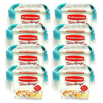 Rubbermaid TakeAlongs 2.9 Cup Sandwich Food Storage Container 5 Containers per set (Pack of 8)= 40 Containers
