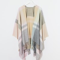 Esprit Checked Cape