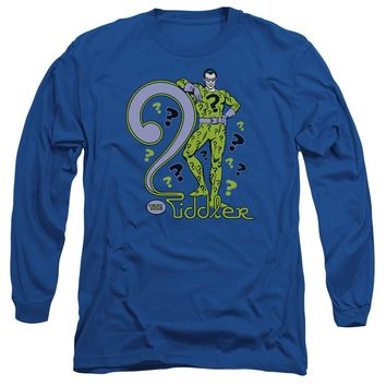 Dc - The Riddler Long Sleeve Adult 18/1 Officially Licensed Shirt