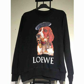 Loewe Print women man warm long sleeve sweater Sweatshirt G-A-KSFZ