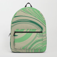 Spiraling Green Backpack by sm0w