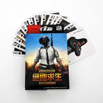 Game Anime PUBG League of legends One Piece Naruto Tokyo Ghoul Gintama Attack on Titan Playing Card Board Gam Cosplay Badge