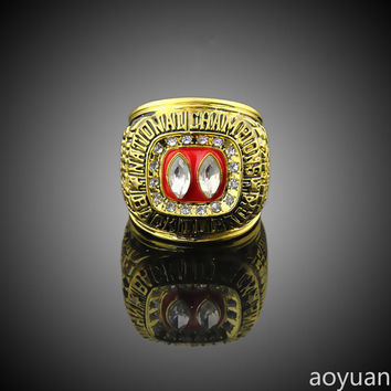 aoyuan championship ring, 1995 Nebraska championship rings , sports fans rings, men gift ring B