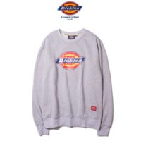 """Dickies"" Fashion long sleeve sweater thick Grey"