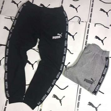 PUMA Print Long Pants Man Sport Trousers Sweatpants H-YF-MLBKS