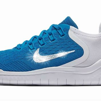Nike Free RN 2018 + Crystals - Photo Blue