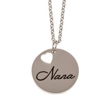 Stainless Steel Charm Necklace Nana