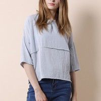 Leisure Day Smock Top in Blue