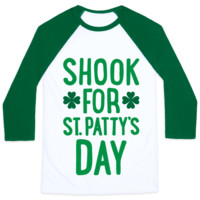 SHOOK FOR ST. PATTY'S DAY BASEBALL SHIRT