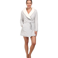 Splendid Sherpa Lined Terry Robe Medium Grey Heather - 6pm.com