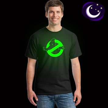 Summer Fluorescent Ghostbusters T Shirt Mens Casual Luminous Ghostbusters Tshirt Short Sleeve Ghostbusters Glow In Dark T-shirt